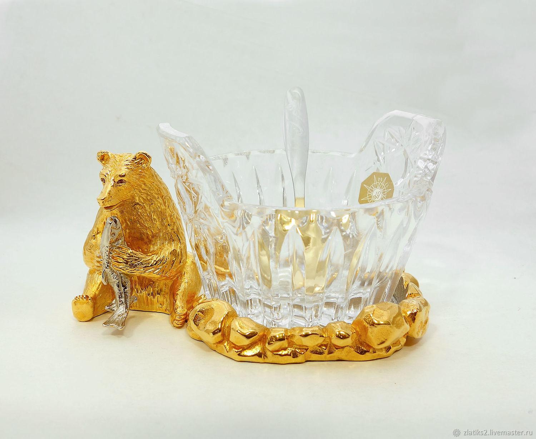 """-Икорница """"Медведь"""" № 2 z1703, Подарки, Златоуст,  Фото №1"""