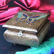 Для дома и интерьера ручной работы. Ярмарка Мастеров - ручная работа Подарок девушке, Шкатулка для украшений, Бабочка арт. Handmade.