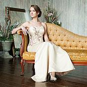 Одежда ручной работы. Ярмарка Мастеров - ручная работа Вечернее платье на выпускной в пол Аромат хризантем. Handmade.