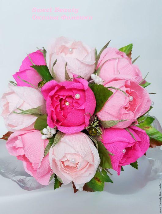 """Букеты ручной работы. Ярмарка Мастеров - ручная работа. Купить Букет из конфет """" Вдохновение"""". Handmade. Розовый, Букеты из конфет"""