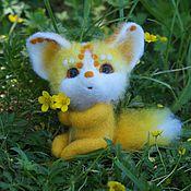 Куклы и игрушки ручной работы. Ярмарка Мастеров - ручная работа Чудесные лисички Интерьерные игрушки из шерсти. Handmade.