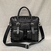 Сумки и аксессуары handmade. Livemaster - original item Classic bag made of genuine crocodile leather, in black!. Handmade.