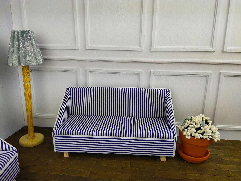 диван в полоску, Мебель для кукол, Новороссийск,  Фото №1