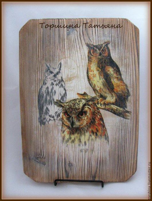 Животные ручной работы. Ярмарка Мастеров - ручная работа. Купить Декоративное панно Птицы. Handmade. Разноцветный, сова, универсальный подарок