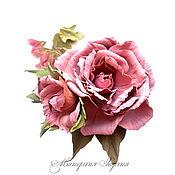 """Украшения ручной работы. Ярмарка Мастеров - ручная работа Букетик роз."""" Нежность"""" Украшения. Брошь.. Handmade."""