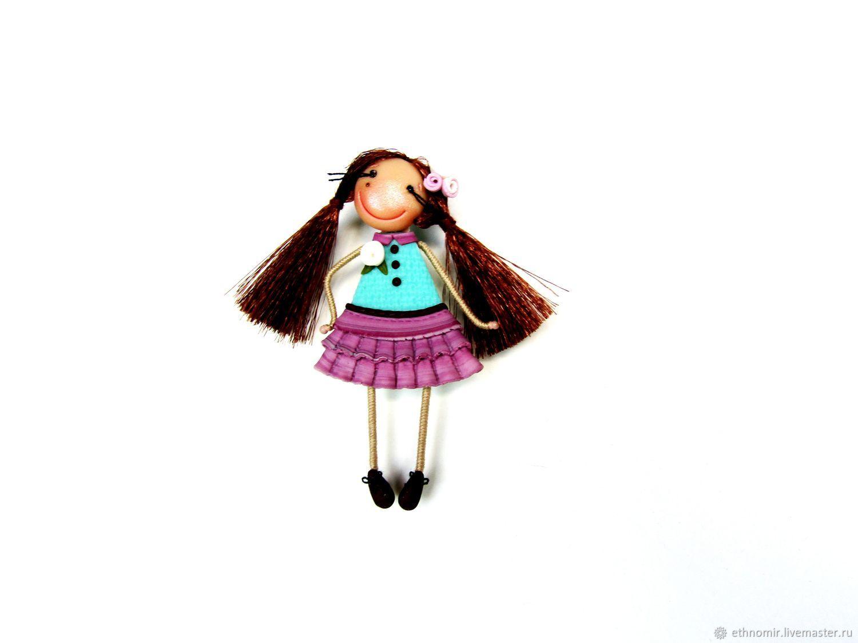 Brooch girl 'Alina', Brooches, Irbit,  Фото №1