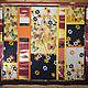 """Текстиль, ковры ручной работы. Ярмарка Мастеров - ручная работа. Купить Покрывало """"Оранжевые бабочки"""". Handmade. Оранжевое небо, коричневый"""