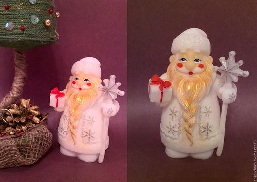 Мыло ручной работы. Ярмарка Мастеров - ручная работа. Купить Дед Мороз. Handmade. Комбинированный, елка, мыло сувенирное, отдушки