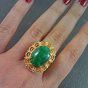 Винтаж ручной работы. Ярмарка Мастеров - ручная работа Винтажное кольцо с пекинским стеклом. Handmade.