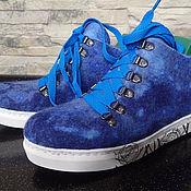 """Обувь ручной работы. Ярмарка Мастеров - ручная работа Валяные кеды """"Blue"""". Handmade."""