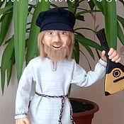 """Куклы и игрушки ручной работы. Ярмарка Мастеров - ручная работа Авторская интерьерная кукла """"Мужик с балалайкой"""". Handmade."""
