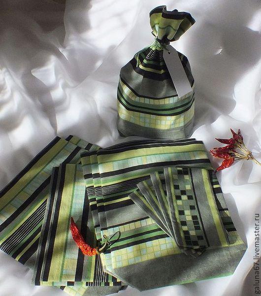 """Кухня ручной работы. Ярмарка Мастеров - ручная работа. Купить """"Закрома ждут!"""" набор мешочков 8+4 шт. Handmade. Зеленый"""
