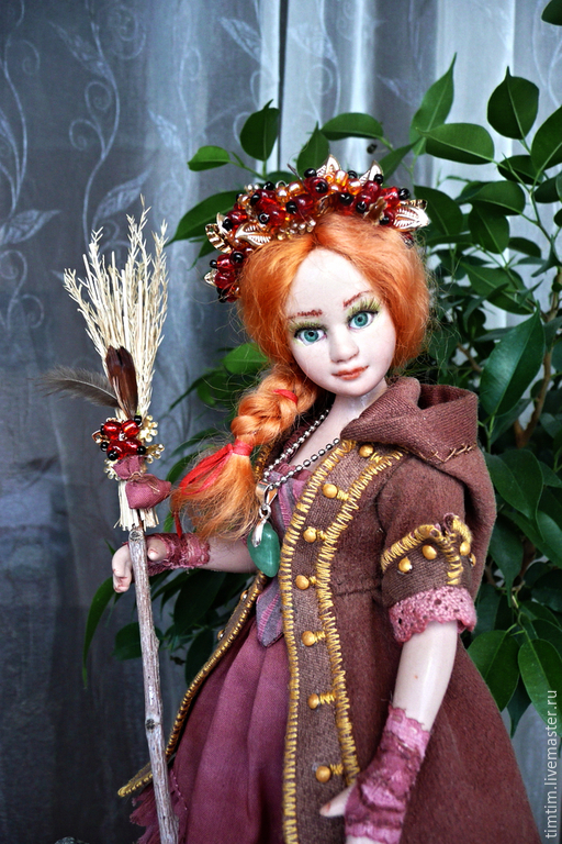 Коллекционные куклы ручной работы. Ярмарка Мастеров - ручная работа. Купить Лесная ведьмочка. Handmade. Разноцветный, рыжая кукла