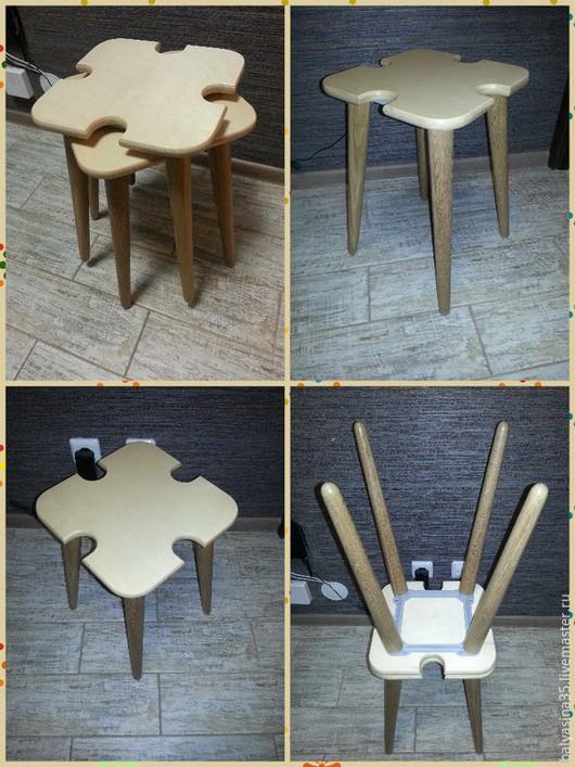 Мебель ручной работы. Ярмарка Мастеров - ручная работа. Купить Табурет из натурального дерева. Handmade. Разноцветный, табуретка, табурет из дуба