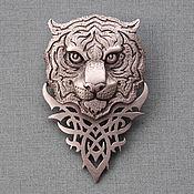 Винтаж handmade. Livemaster - original item Vintage brooch TIGER JJ. Handmade.