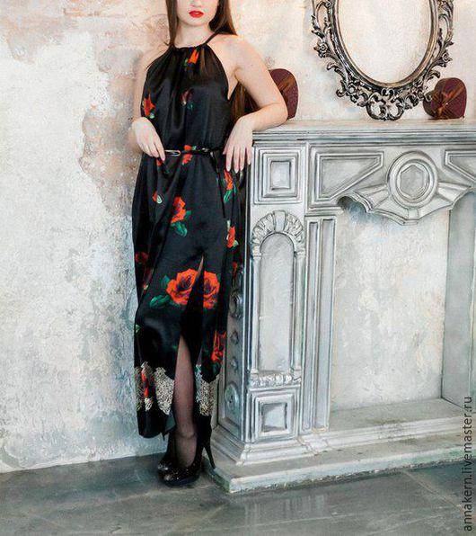 Платья ручной работы. Ярмарка Мастеров - ручная работа. Купить Платье из шёлка. Handmade. Комбинированный, платье вечернее, платье модное