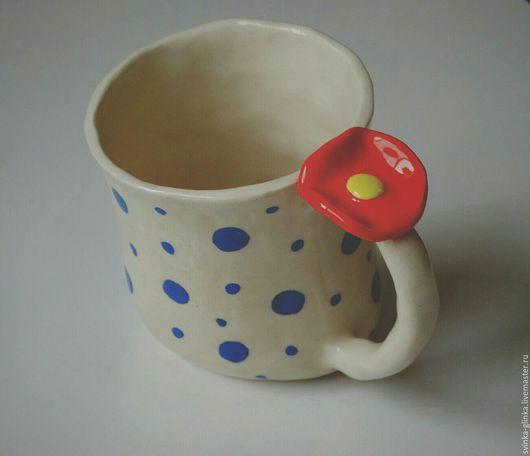 """Кружки и чашки ручной работы. Ярмарка Мастеров - ручная работа. Купить Чашечка """"Неваляшечка"""". Керамика. Handmade. Тёмно-синий"""