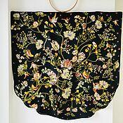 Одежда handmade. Livemaster - original item Tunic kimono. Silk with an ornament by William Morris on a black background. Handmade.