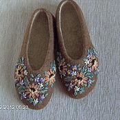 """Обувь ручной работы. Ярмарка Мастеров - ручная работа Тапочки """"Земля в цвету"""". Handmade."""