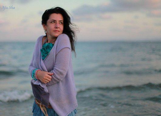"""Кофты и свитера ручной работы. Ярмарка Мастеров - ручная работа. Купить Кардиган """"Sea Wind"""". Handmade. Кардиган, цвет лаванды"""