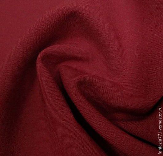 Шитье ручной работы. Ярмарка Мастеров - ручная работа. Купить Ткань габардин костюмный бордовый. Handmade. Ткани для шитья, ткань