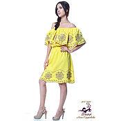 """Одежда ручной работы. Ярмарка Мастеров - ручная работа Платье с вышивкой ришелье """"Солнечный фиолет"""" в любом цвете на заказ. Handmade."""