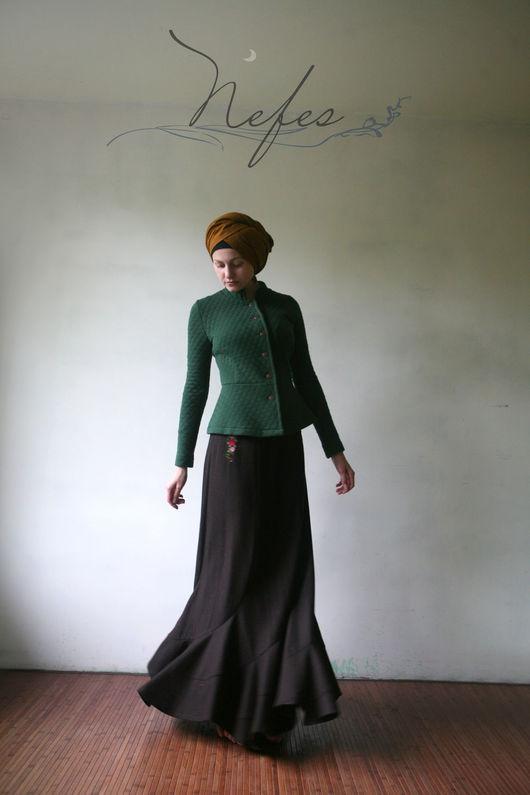 """Юбки ручной работы. Ярмарка Мастеров - ручная работа. Купить Юбка """"Билал"""". Handmade. Коричневый, длинная юбка"""