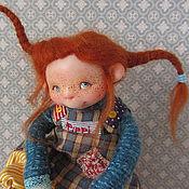"""Куклы и пупсы ручной работы. Ярмарка Мастеров - ручная работа """" Пеппи и Конь в пальто и  Бонус"""". Handmade."""