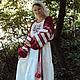 """Одежда ручной работы. Ярмарка Мастеров - ручная работа. Купить Платье с вышивкой и узорными рукавами """"Макошь"""". Handmade. Разноцветный"""