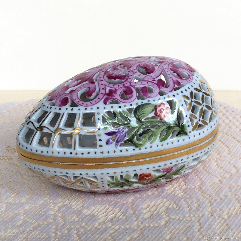 Box bomboniere Herend Hungary 50s egg, Vintage interior, Ramenskoye,  Фото №1