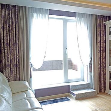 Для дома и интерьера ручной работы. Ярмарка Мастеров - ручная работа Сиреневые шторы. Handmade.
