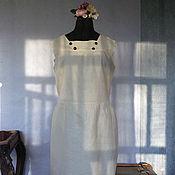 """Одежда ручной работы. Ярмарка Мастеров - ручная работа Платье """"Паром из Одессы"""" бледно-желтое на подкладе. Handmade."""