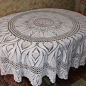 Для дома и интерьера ручной работы. Ярмарка Мастеров - ручная работа Скатерть для круглого стола. Handmade.