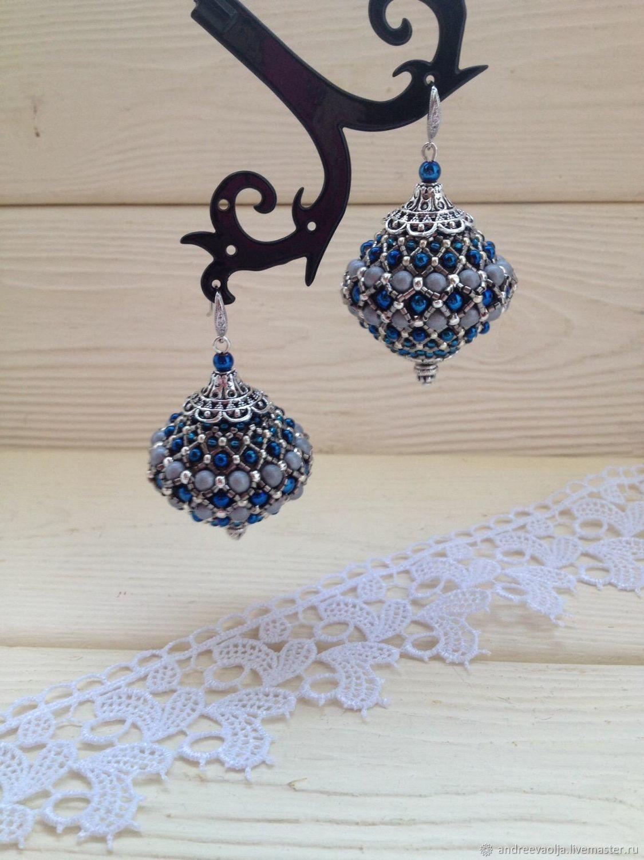 Earrings Handmade Are Woven Of Beads And Oljaljasoutache
