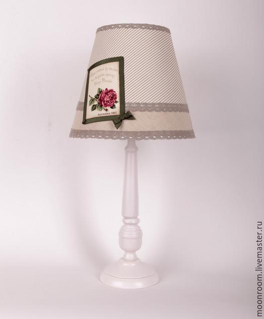 """Освещение ручной работы. Ярмарка Мастеров - ручная работа. Купить Лампа """"Арли"""" в стиле Прованс. Handmade. Белый, натуральное дерево"""