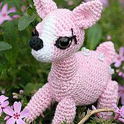 Куклы и игрушки ручной работы. Ярмарка Мастеров - ручная работа Олененок розовый. Handmade.