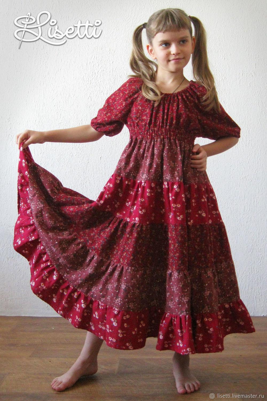 Детское бохо-платье Рябинка