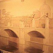 """Дизайн и реклама ручной работы. Ярмарка Мастеров - ручная работа роспись стены """"Рим"""". Handmade."""