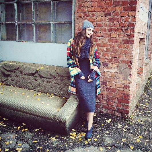 """Платья ручной работы. Ярмарка Мастеров - ручная работа. Купить платье вязаное """"Gray"""". Handmade. Однотонный, шерсть 100%"""