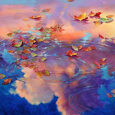 Картины и панно ручной работы. Ярмарка Мастеров - ручная работа Картины: Небесный пейзаж. Handmade.