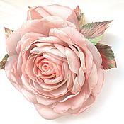 Украшения handmade. Livemaster - original item FABRIC FLOWERS. Chiffon rose.