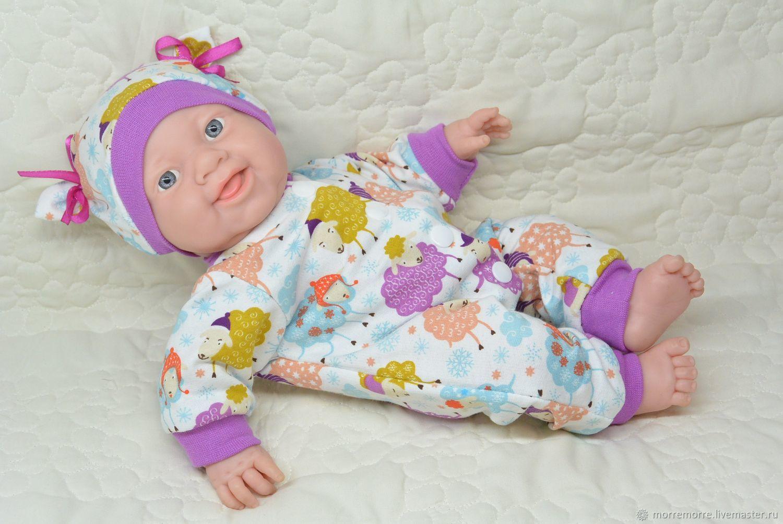 Слип и шапочка для кукол 36-38 см, Одежда для кукол, Астрахань,  Фото №1