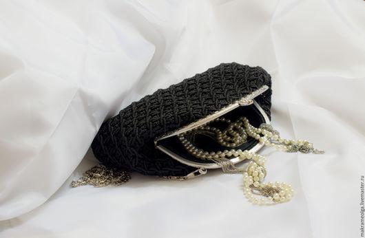 """Женские сумки ручной работы. Ярмарка Мастеров - ручная работа. Купить Плетеная женская сумка """"Биение сердец"""", черная. Handmade."""