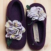 Обувь ручной работы. Ярмарка Мастеров - ручная работа Тапочки валяные 37. Handmade.
