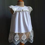 Работы для детей, ручной работы. Ярмарка Мастеров - ручная работа Крестильное платье, крестильное платье для девочки, платье Душа. Handmade.