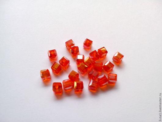Для украшений ручной работы. Ярмарка Мастеров - ручная работа. Купить Бусина куб красный, 3 мм (10шт). Handmade.