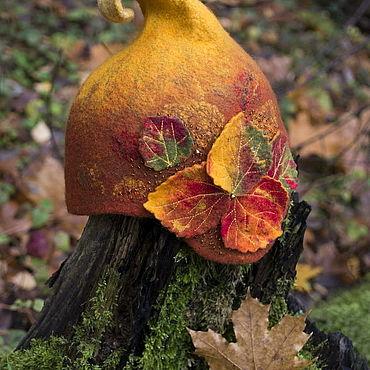 Товары для малышей ручной работы. Ярмарка Мастеров - ручная работа Шапки: Шапка Золотая осень. Handmade.