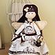 Коллекционные куклы ручной работы. Ярмарка Мастеров - ручная работа. Купить Кофейная Фея Мари. Handmade. Коричневый, кофе, бархат