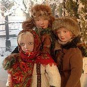 Куклы и игрушки ручной работы. Ярмарка Мастеров - ручная работа Крестьянские дети. Handmade.