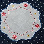 Винтаж handmade. Livemaster - original item Embroidered vintage doily. Handmade.